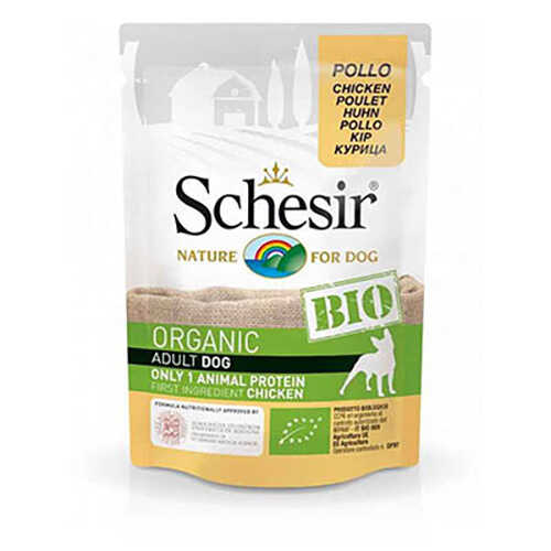 Schesir Bio Range Tavuklu Pouch Yetişkin Köpek Konservesi