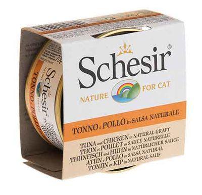 Schesir - Schesir Tahılsız Soslu Ton Balıklı Ve Tavuklu Yetişkin Kedi Konservesi