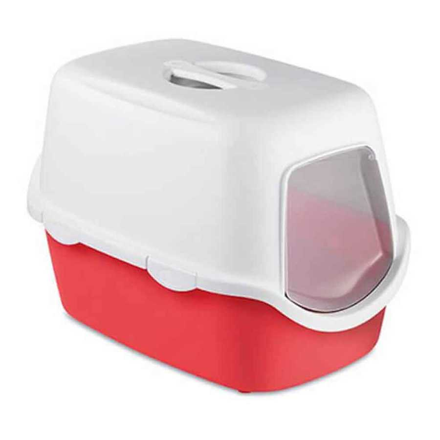 Stefanplast Cathy Kapalı Kedi Tuvaleti Kırmızı