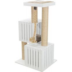 Trixie - Trixie Kedi Tırmalama ve Oyun Evi, Beyaz, Kum Beji