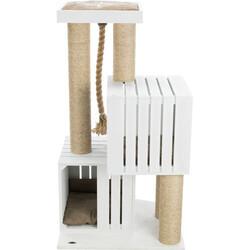 Trixie Kedi Tırmalama ve Oyun Evi, Beyaz, Kum Beji - Thumbnail