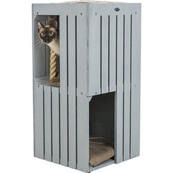 Trixie - Trixie Kedi Tırmalama ve Oyun Evi, Gri & Kum Beji