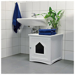 Trixie Kedi Tuvalet Evi,Beyaz - Thumbnail