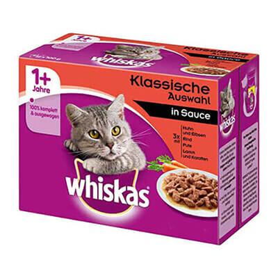 Whiskas - Whiskas Etli Seçenekler 4 Çeşit Yetişkin Kedi Konservesi