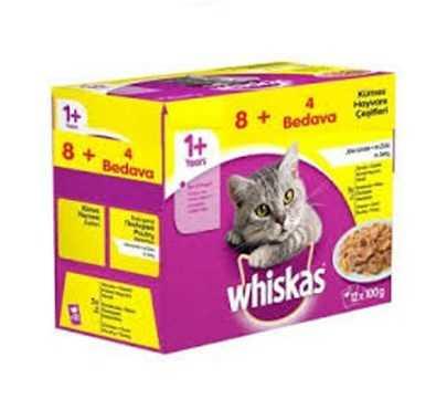 Whiskas Pouch Kümes Hayvanı Çeşitleri Yetişkin Kedi Konservesi